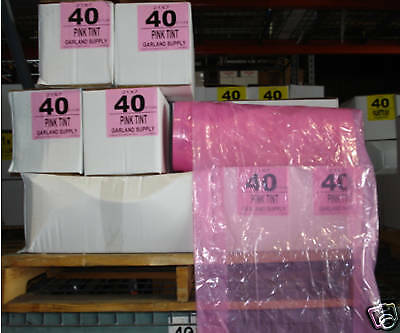 """PINK"" Dry Cleaning Poly Garment Bags 40"" 430bags/roll"