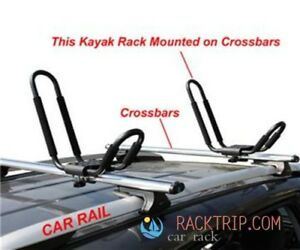 Brand NEW Universal Kayak J Bar Car Roof Rack with Straps