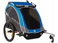 Burley D'Lite Blue Child Bike 2 Seater Trailer Rear Cycle Carrier, Folding - 47697