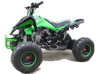 125cc Quad Bike 4~Stroke Electric Start Rev&Go Off Road Petrol Green