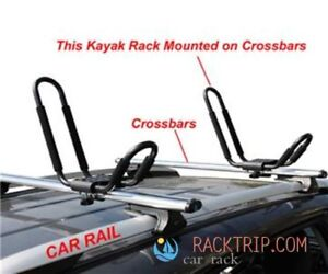 【Brand NEW】 Universal Kayak J Bar Car Roof Rack with Straps