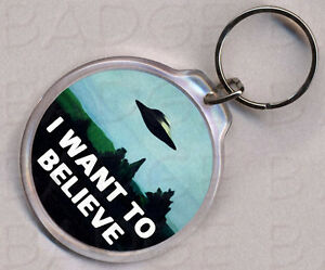 THE-X-FILES-I-WANT-TO-BELIEVE-ROUND-KEYRING