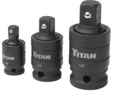 TITAN 3 PIECE PIN-FREE LOCKING IMPACT U-JOINT SET 16151
