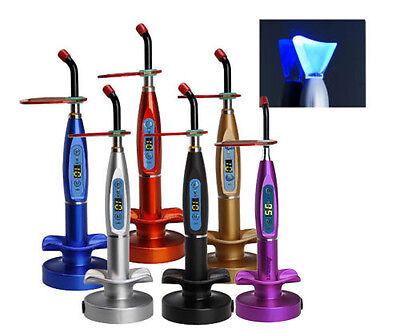 Dental Led Curing Light Lamp Wireless 5w 1500mw Blue Light With Whitening Tip