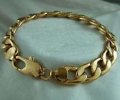 Mens 9ct Solid Gold Bracelet