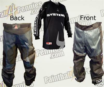 PAINTBALL PRO PANTS  AND JERSEY COMBO  (GRAY) SYSTEM (Paintball Professional Pants)