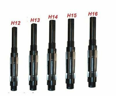 Adjustable Hand Reamer Set-5 Piece H-12 To H-16 Sizes 1.1 16 To 2.7 32