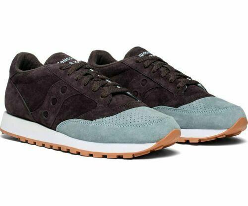 Saucony Men's Jazz Original Suede Low Top Trainer Sneakers NavyLT Blue