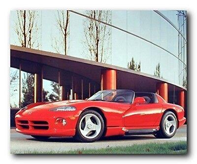 Red SRT Dodge Viper Sports Car Automobile Wall Decor Art Print Poster (16x20)