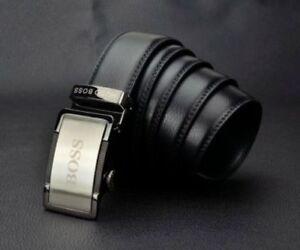 HUGO BOSS Belt Genuine Leather Slide Buckle adjustable Size from 28