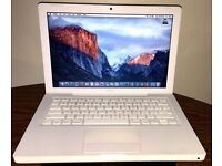Macbook 2009 White Apple laptop 1TB (1000gb) hard drive on latest EL Capitan 10.11 OS