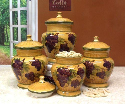 grape canister set ebay