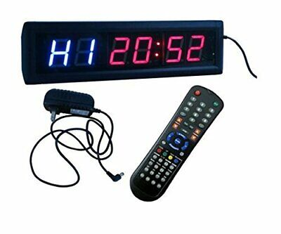 BEST Multifunction Interval Timer Workout Stopwatch Wall Clock w/ Remote
