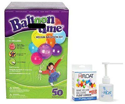 Balloon Time Disposable Helium Kit ,Tank 14.9 cu.ft - Plus an Ultra Hi-Float - P