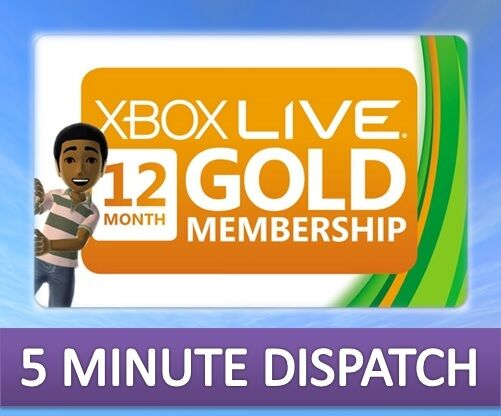 12 MONTH XBOX LIVE GOLD MEMBERSHIP FOR MICROSOFT XBOX 360 / XBOX ONE FAST
