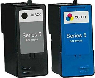 2pk For Dell Series 5 J5566/J5567 Black/Color Ink Combo for 946 962 964 Printers Dell 964 Printer Ink