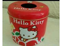 Hello Kitty RARE tissue/biscuit tin from Hong Kong 2007