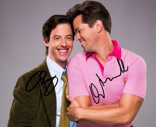 ANDREW RANNELLS & CHRISTIAN BORLE SIGNED PHOTO 8X10 RP AUTOGRAPHED * FALSETTOS