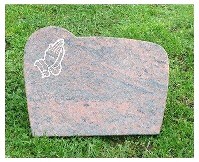 Grabstein, Liegestein, der Preis ist mit Inschrift und einem Ornament