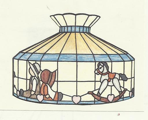 WORDEN LAMP PATTERN COUNTRY KIDS Stained Glass Supplies Pattern P20-12