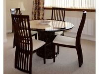 Solid Marble Table with 4 Chairs Immaculate Condition