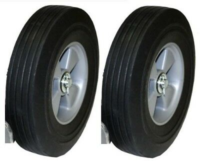 Set Of 2 Hand Truck Tires Semi Pneumatic 10 X 2-34 Wheel With 58 Id