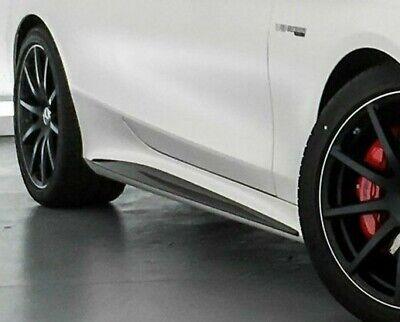 Mercedes-Benz OEM Carbon Fiber Side Skirt Inserts C217 S Class Coupe Convertible
