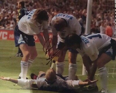 PAUL GASCOIGNE GAZZA DENTIST CHAIR SIGNED LARGE SIZE PHOTO £29.99 REDUCED £17.50