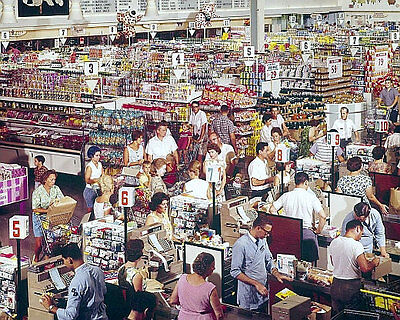 1964 Supermarket Photo 8x10