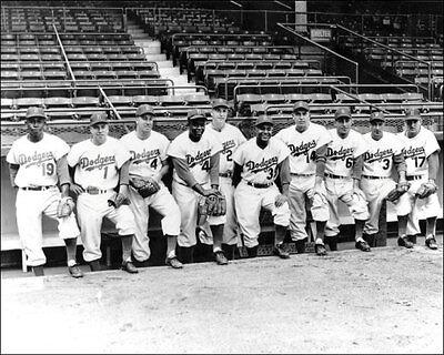 Brooklyn Dodgers Photo - 1954 Brooklyn Dodgers Photo 8X10 Robinson Hodges Campanella Alston Snider Ebbets