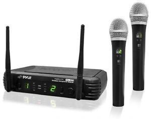 PYLE - PDWM3375 Premier Series Professional 2-Channel UHF Wirele