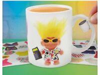 Good luck trolls dress up mug