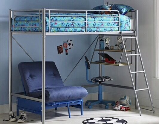 argos sit  u0027n u0027 sleep metal single high sleeper bed frame with blue futon  argos sit  u0027n u0027 sleep metal single high sleeper bed frame with blue      rh   gumtree