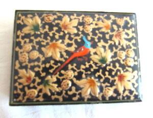 HAND CRAFTED FOLK ART CURIO BOX