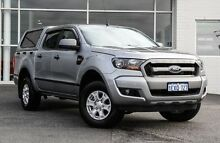 2015 Ford Ranger PX MkII XLS Double Cab Silver 6 Speed Sports Automatic Utility Bayswater Bayswater Area Preview