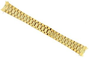 20MM 18K GOLD FINISH PRESIDENT WATCH BAND FOR 36MM ROLEX DAY DATE 1801,1802,1803