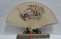 Antique Foldable Scented Sandalwood Chinese Fan with luxury box