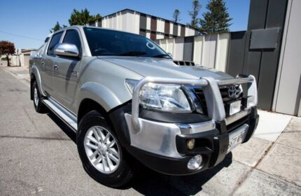 2012 Toyota Hilux GGN25R MY12 SR5 Double Cab Silver 5 Speed Automatic Utility