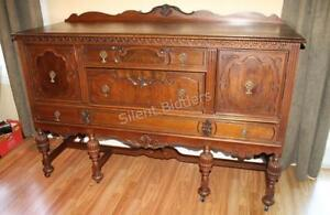 1940 Victorian Hand Carved Sideboard