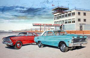 CLASSIC CAR Watercolor Art Prints