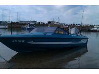 Fletcher arrowflyte bravo speedboat,40hp Marnier 2 stroke,trailer with roller lauch,winter cover.