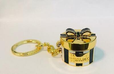 "RARE~ ""HARRODS- HATBOX"" Solid Perfume Compact/Keychain  New/Unused"