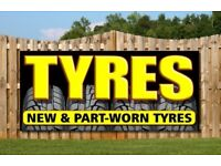 New and part worn tyres 2 carsegate road north iv38du