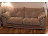 2 SEATER AND 3 SEATER DARK CREAM SOFA 🚚 DELIVERY AVAILABLE 🚚