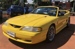 1999 Ford Mustang V8 Yellow Automatic 2 DOOR CONVERTABLE Richmond Hawkesbury Area Preview