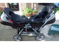 Peg-Perego twins pram, similar to mamas and papas