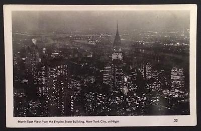 North East View From The Empire State Building Nyc 22 Real Photo 1949