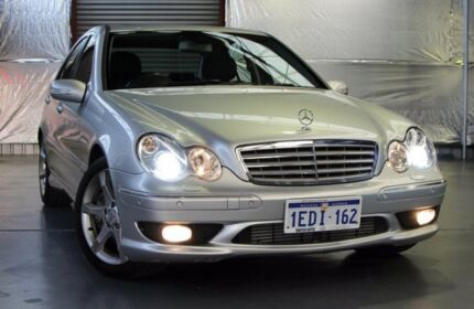 2007 Mercedes-Benz C180 Kompressor W203 MY07 Super Sport Silver 5 Speed Automatic Sedan Myaree Melville Area Preview