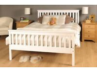 Wooden Pine Double Bed