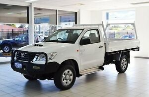 2012 Toyota Hilux KUN26R MY12 SR (4x4) White 5 Speed Manual Cab Chassis Morley Bayswater Area Preview